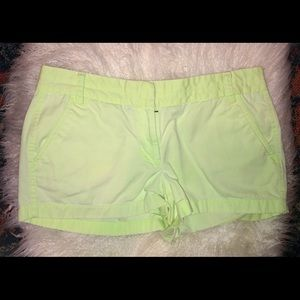 Lime green J-Crew Chino shorts!